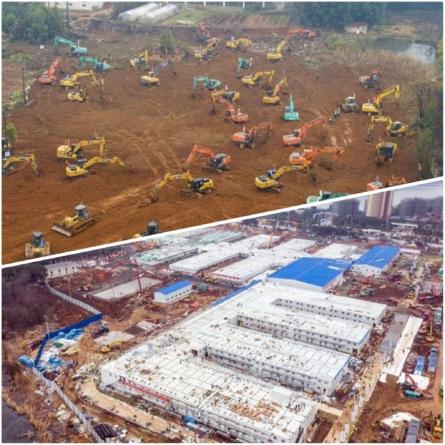 Minunea chinezească : spital în 10 zile la Wuhan