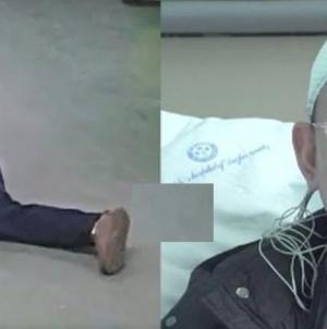 Momentul când un medic chinez leșină de epuizare