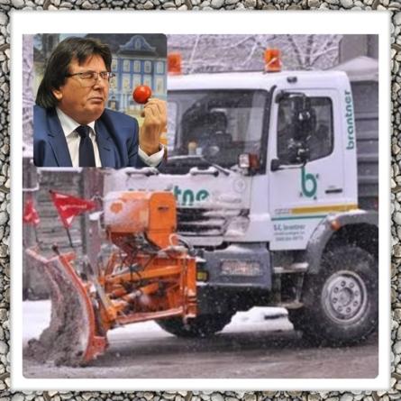 Primarul Robu, craiul zăpezii scumpe