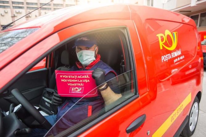 Poșta Română: Stați acasă! Noi venim la ușa voastră!
