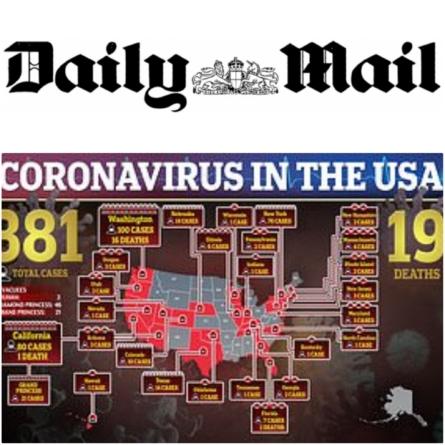 Titlu-șoc în Daily Mail: SUA așteaptă 96 de milioane de infecții cu Covid19