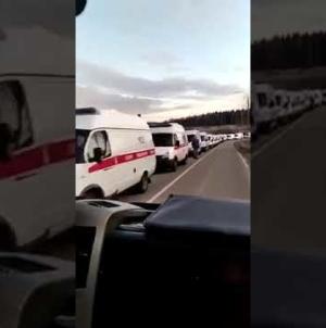 Coadă infernală de ambulanțe la Moscova