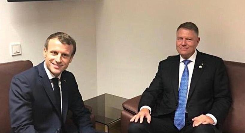 Iohannis a discutat cu Macron despre COVID-19