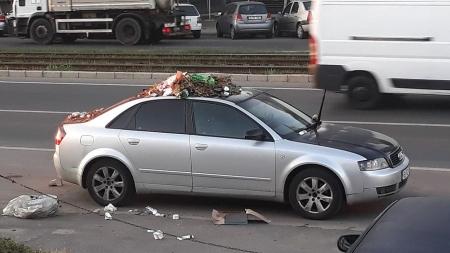 Un meltean cu Audi, taxat pe măsură